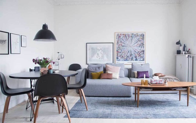 Dapper Digs Home Staging Living Room